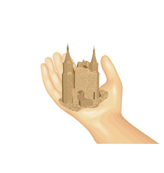 Castle on the hand vector
