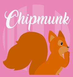 Chipmunk cute animal cartoon vector