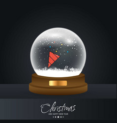 christmas card with creative elegant design and vector image