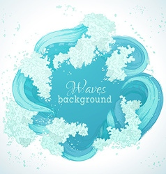 Circle waves frame vector