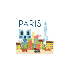 city street paris travel poster vector image