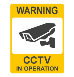 Closed circuit television signs or cctv vector