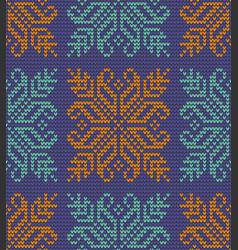 color flower knitting pattern vector image