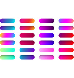 Colorful web button templates isolated on white vector
