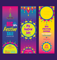 creative big festive sale design vector image