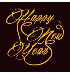Creative new year greeting vector image