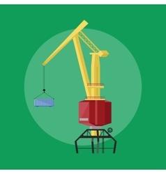 Dockside crane icon vector image