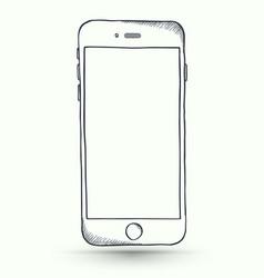 doodle smartphone vector image