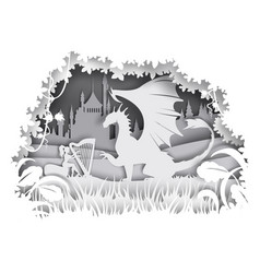 dragon fairytale character vector image