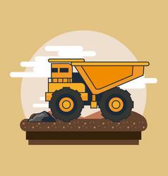 Dump truck vehicle vector