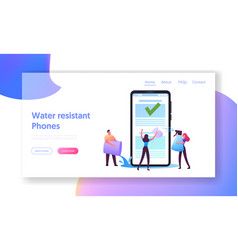 electronic device development landing page vector image