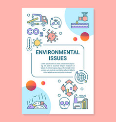 Environmental issues poster template layout vector