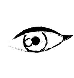 female eye optic cartoon icon sketch vector image