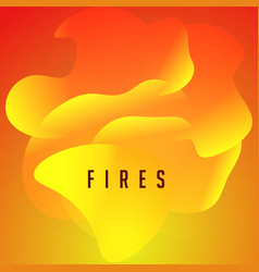 fires orange flame tongues wavy abstract shape vector image