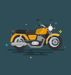 flat motorcycle design vector image