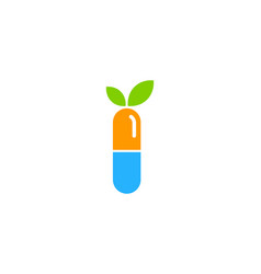 green medicine logo icon design vector image