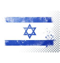 grunge flag isreal vector image