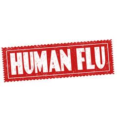 human flu sign or stamp vector image