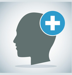 human head brain medical cross concept vector image