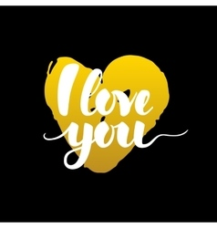 I Love You Handwritten Calligraphy vector image