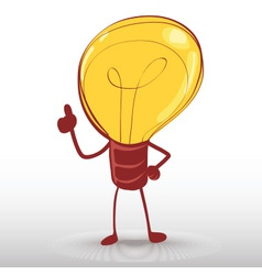 idea light bulb man vector image