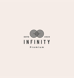 infinity mobius logo icon hipster vintage retro vector image