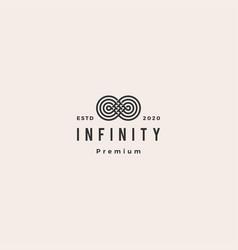 Infinity mobius logo icon hipster vintage retro vector