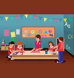 kids in preschool vector image