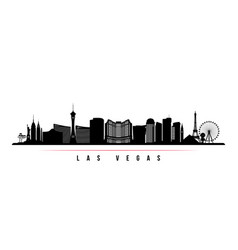las vegas city skyline horizontal banner vector image