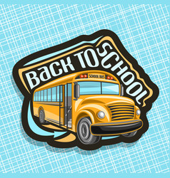 Logo for school bus vector