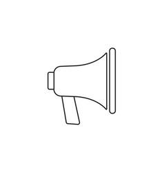 Loudspeaker line icon bullhorn sign megaphone vector