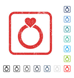 love ring icon rubber watermark vector image