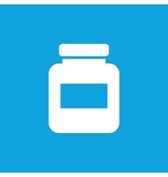 Medicine jar icon simple vector