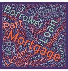 Mortgage can be a long engagement text background vector