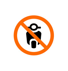 no motorcycle forbidden sign prohibition symbol vector image