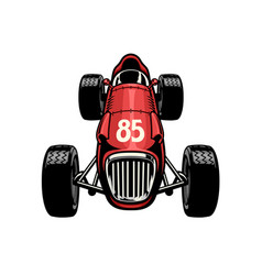 old vintage formula car racing vector image