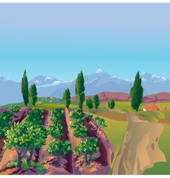 Plantation mountains vector