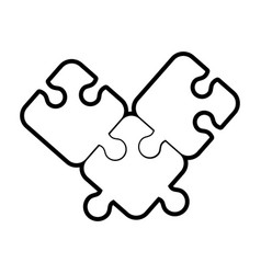 Puzzle tab game vector