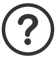 Question Icon Rubber Stamp vector image
