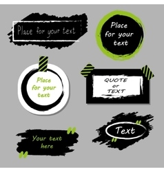 Quote boxes collection Hand drawn frames vector