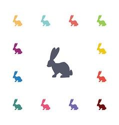 rabbit flat icons set vector image