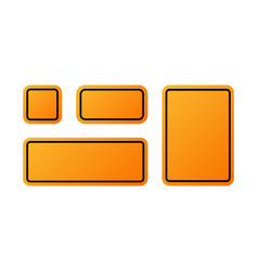 realistic blank orange street and road signs vector image