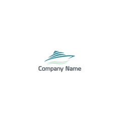 sailing boat beach company logo vector image