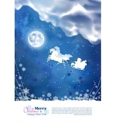 Santa Riding Sleigh Christmas Background vector