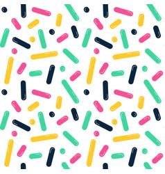 seamless line doodle memphis pattern fashion 80 vector image