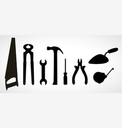 Set of icons of building tools vector