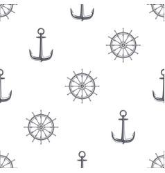 ship wheel anhor seamless background vector image