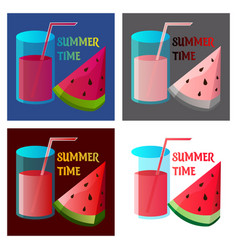 Summer time banner design with white circle for vector