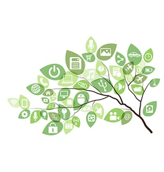Technology Tree vector image vector image