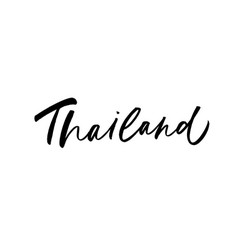 thailand hand written brush calligraphy vector image
